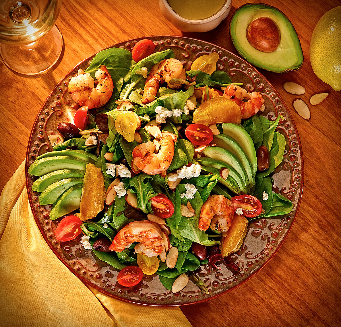 California-spinach-salad